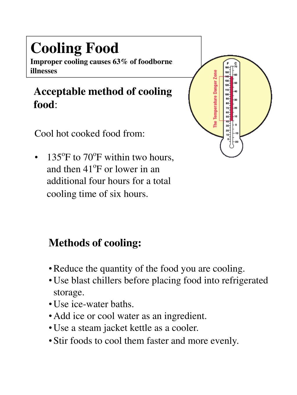 Cooling Food