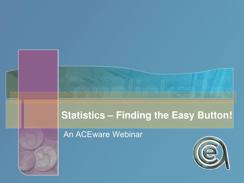 statistics finding the easy button