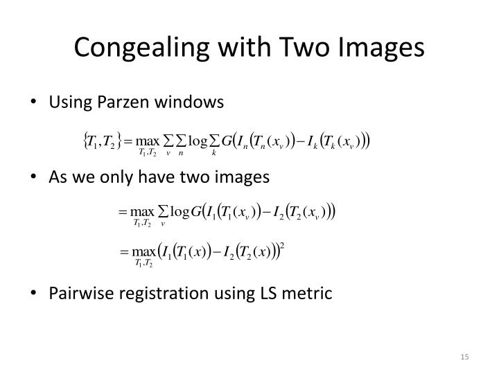Congealing with Two Images