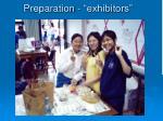 preparation exhibitors