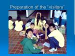 preparation of the visitors12