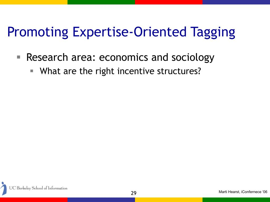 Promoting Expertise-Oriented Tagging