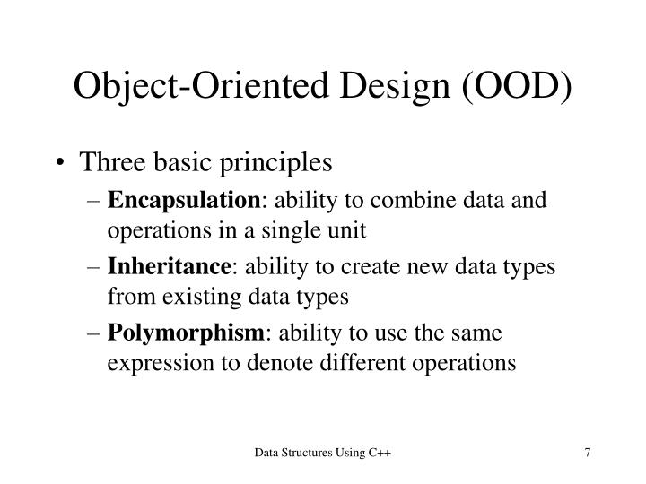 Object-Oriented Design (OOD)