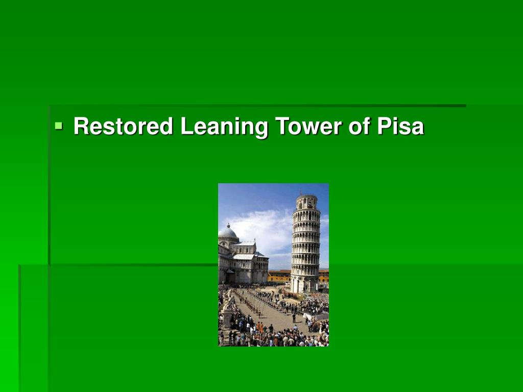 Restored Leaning Tower of Pisa