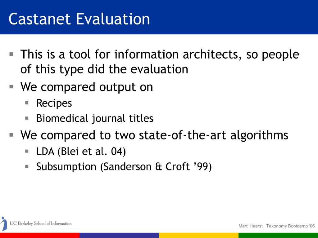 Castanet Evaluation