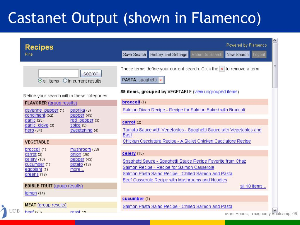Castanet Output (shown in Flamenco)