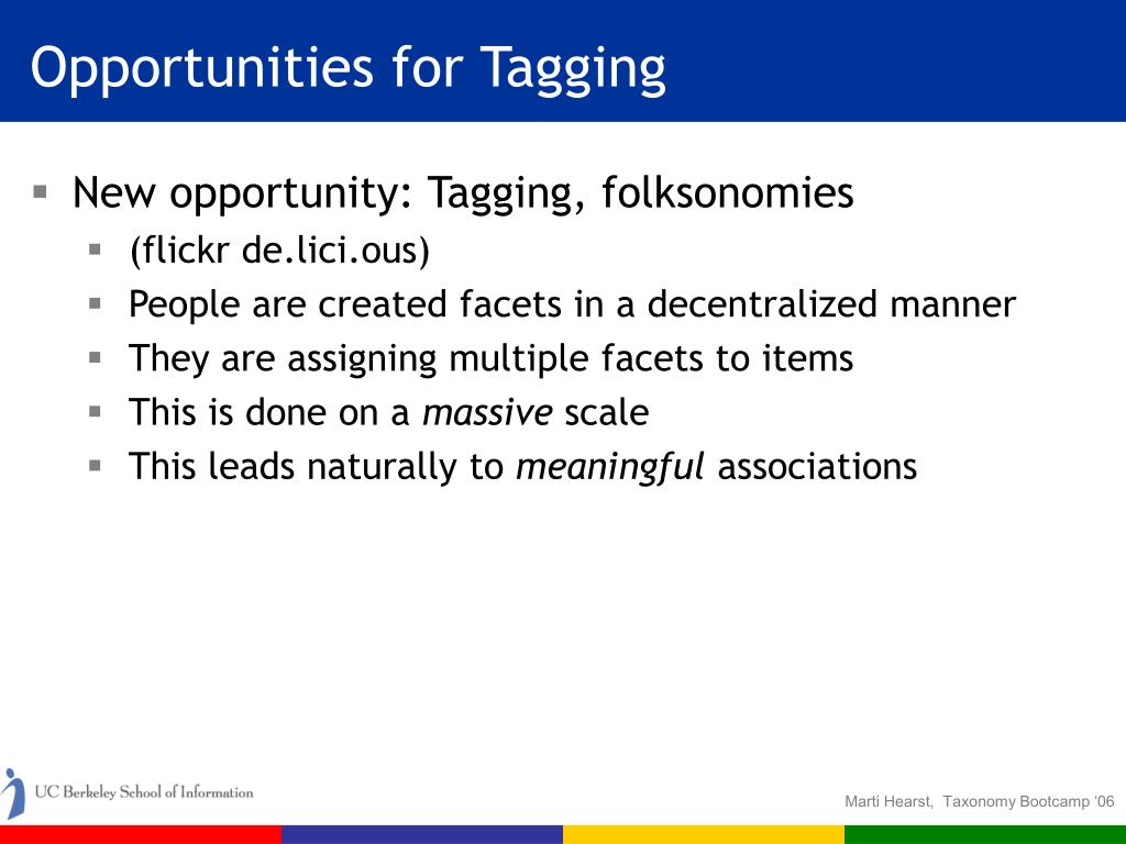 Opportunities for Tagging