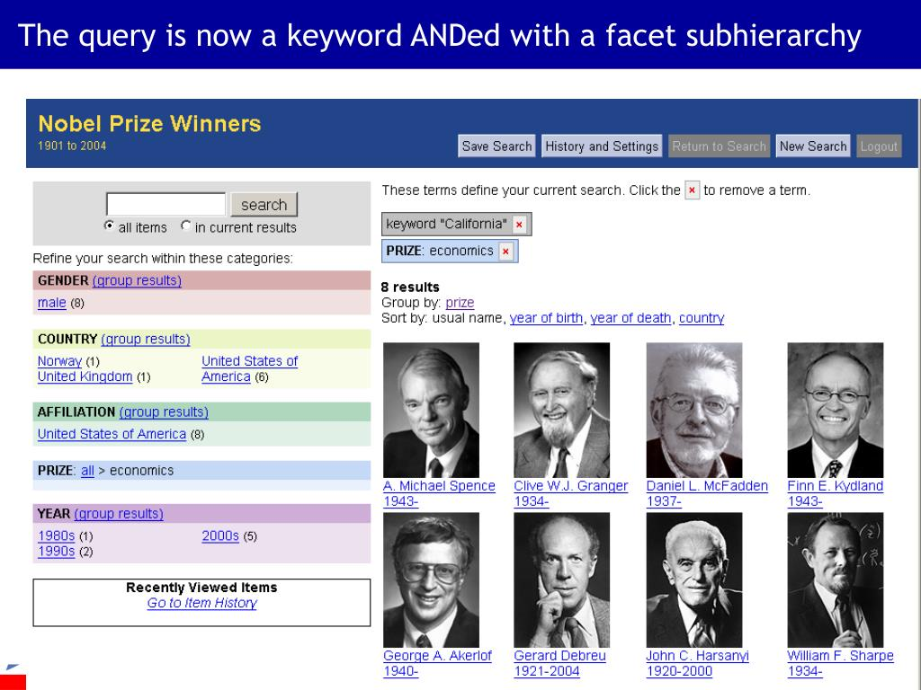 The query is now a keyword ANDed with a facet subhierarchy