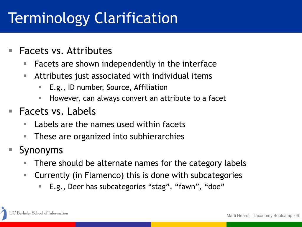 Terminology Clarification