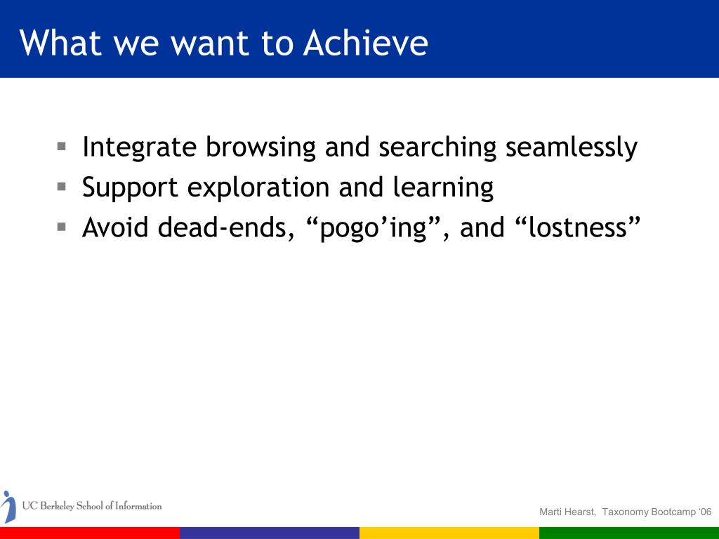 What we want to Achieve