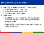 flamenco usability studies
