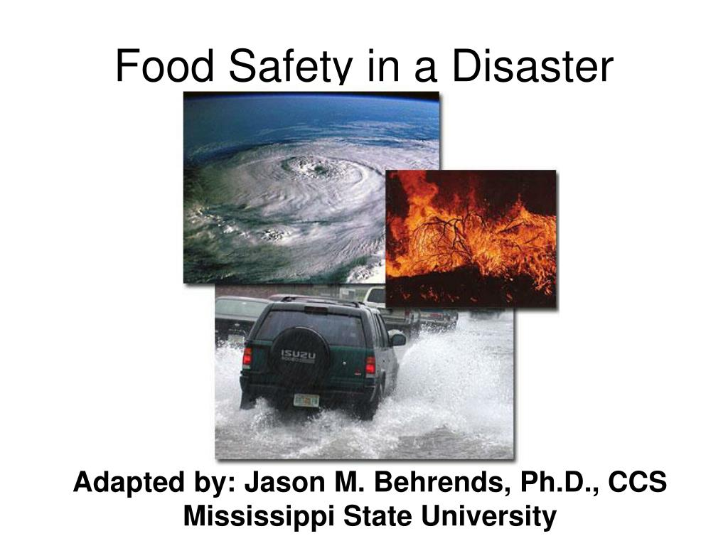 food safety in a disaster