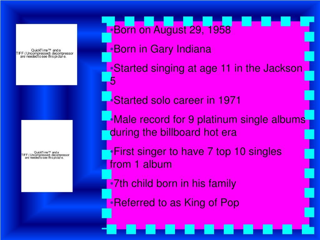 Born on August 29, 1958