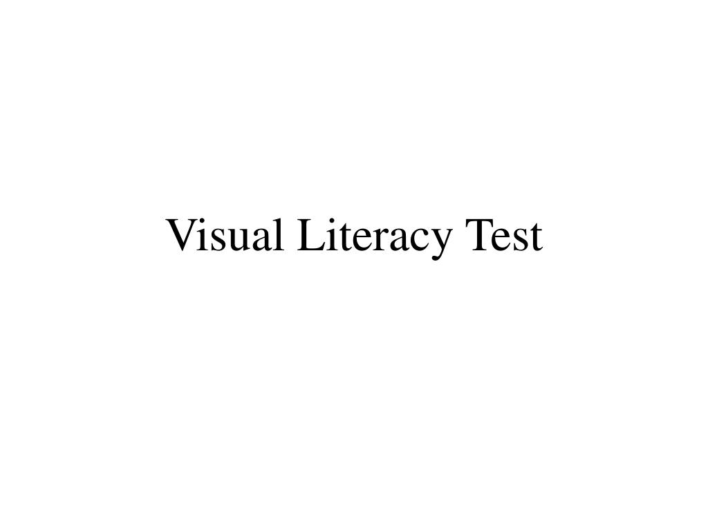 visual literacy test l.