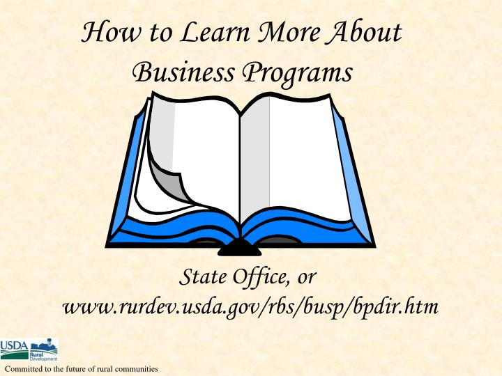 How to Learn More About Business Programs