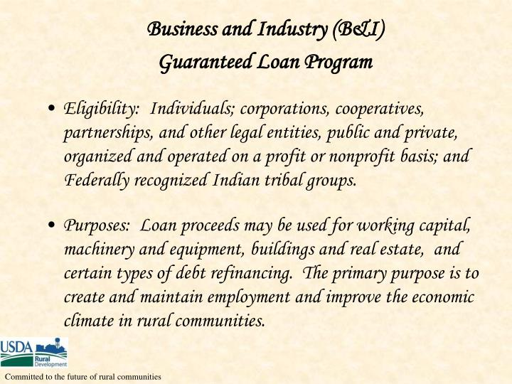 Business and Industry (B&I)