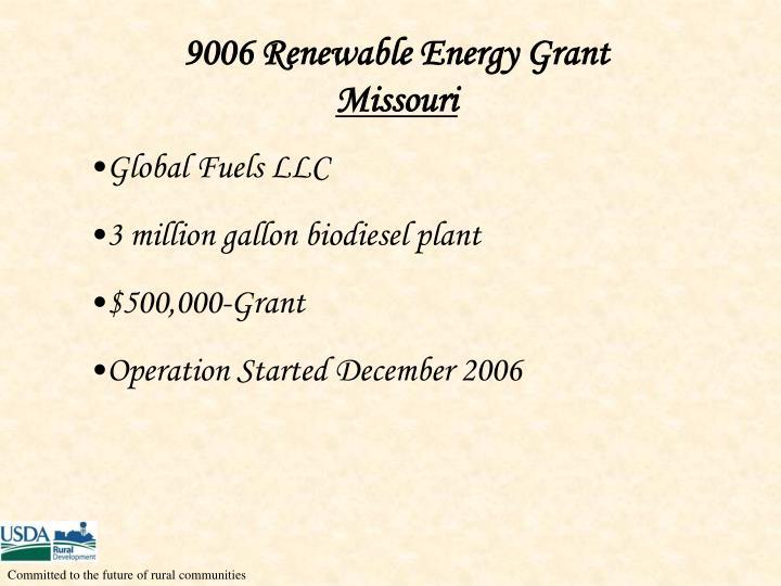 9006 Renewable Energy Grant