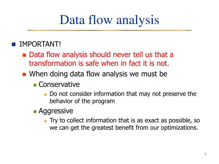 Data flow analysis1