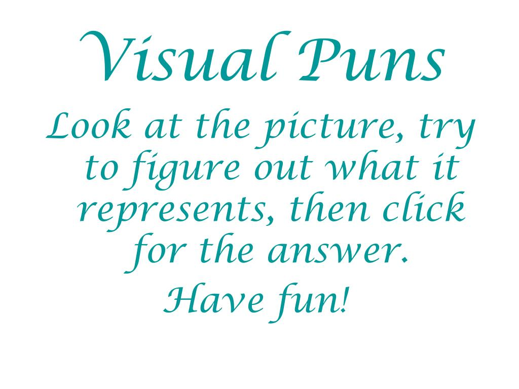 Visual Puns