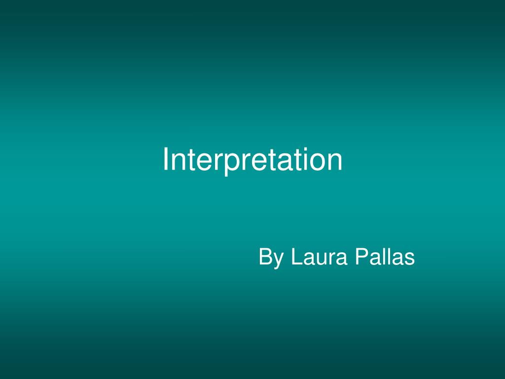 interpretation l.