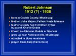 robert johnson 1912 1938