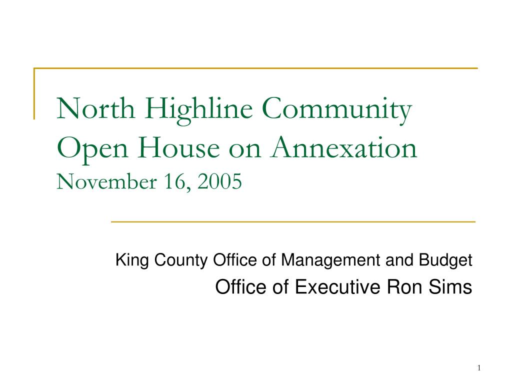 north highline community open house on annexation november 16 2005 l.
