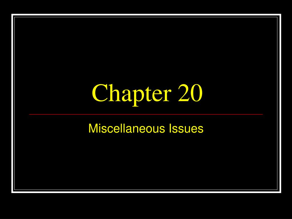 chapter 20 l.