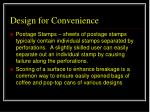 design for convenience