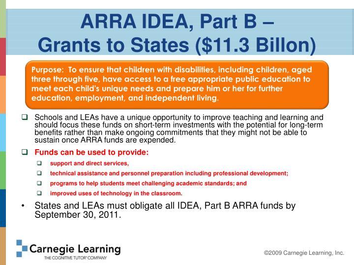 ARRA IDEA, Part B –