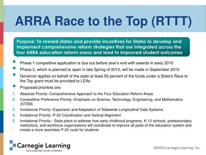 ARRA Race to the Top (RTTT)