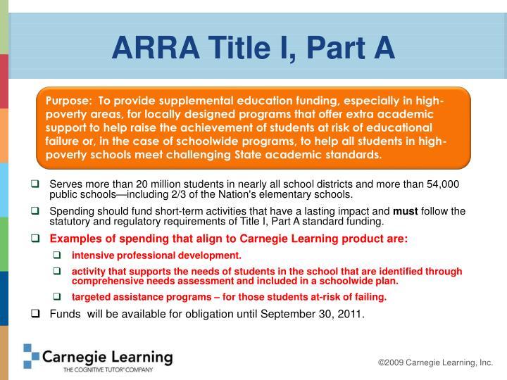 ARRA Title I, Part A