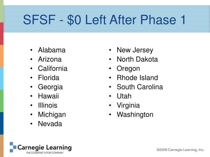 SFSF - $0 Left After Phase 1
