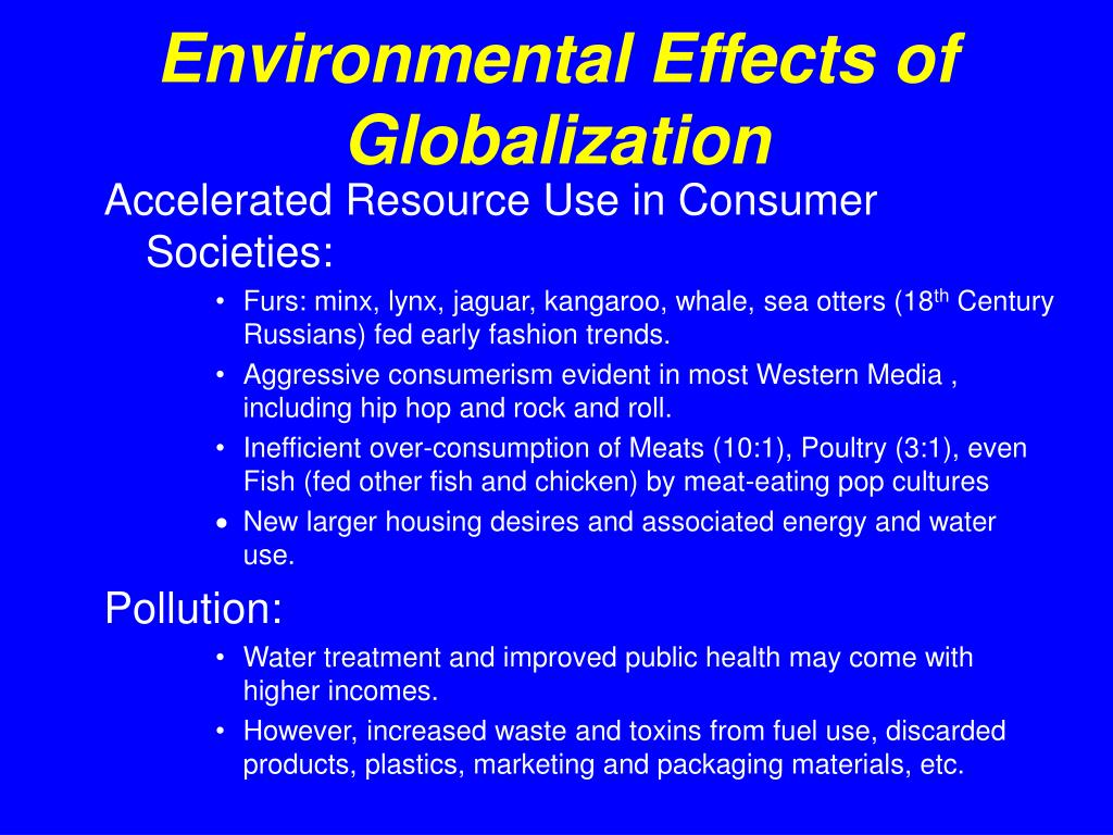 Environmental Effects of Globalization