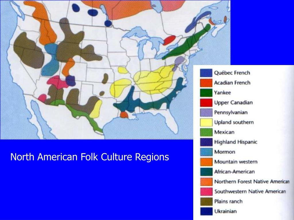 North American Folk Culture Regions