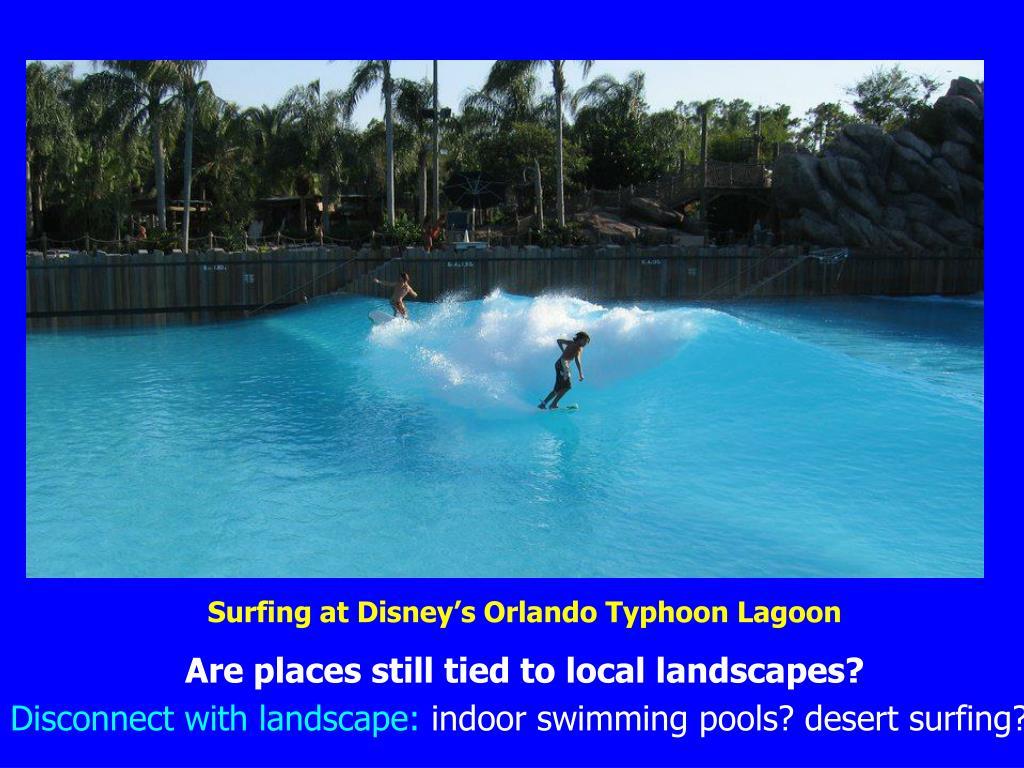 Surfing at Disney's Orlando Typhoon Lagoon