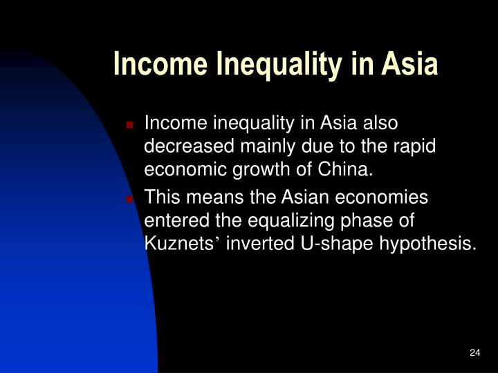Income Inequality in Asia