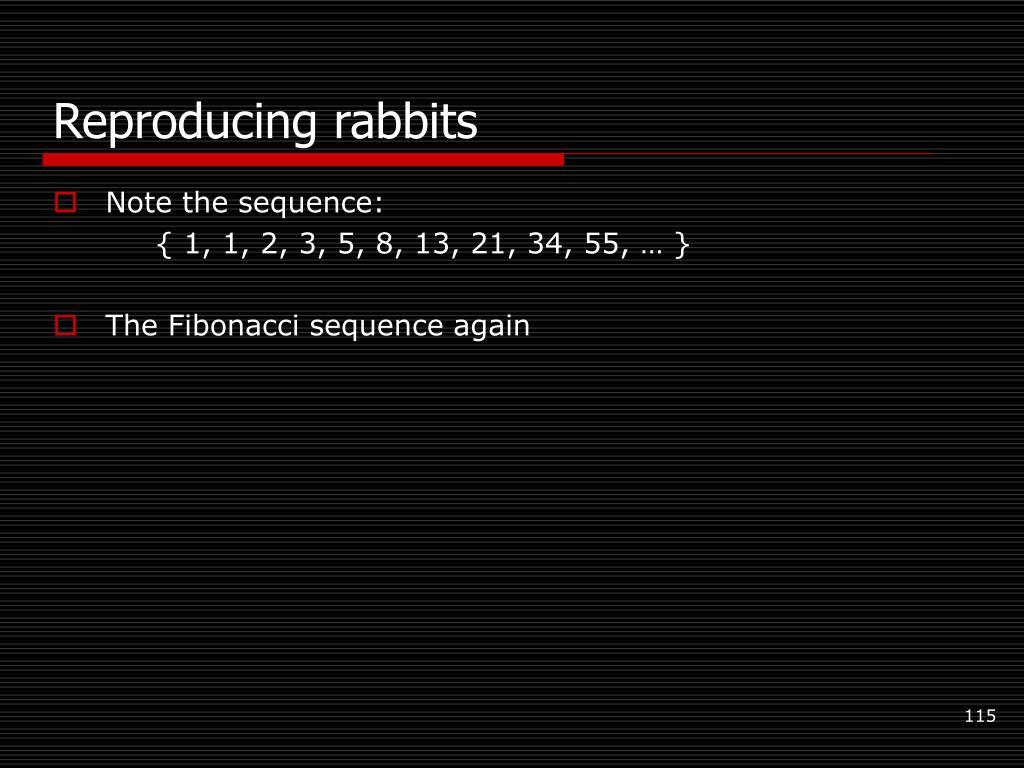 Reproducing rabbits
