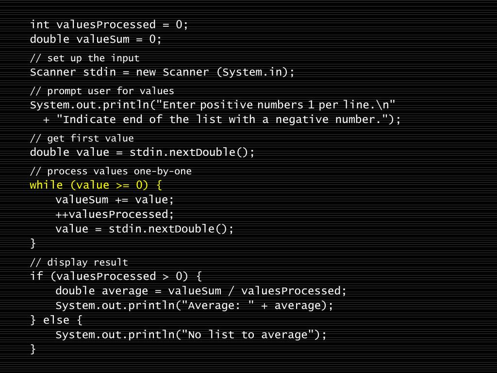 int valuesProcessed = 0;