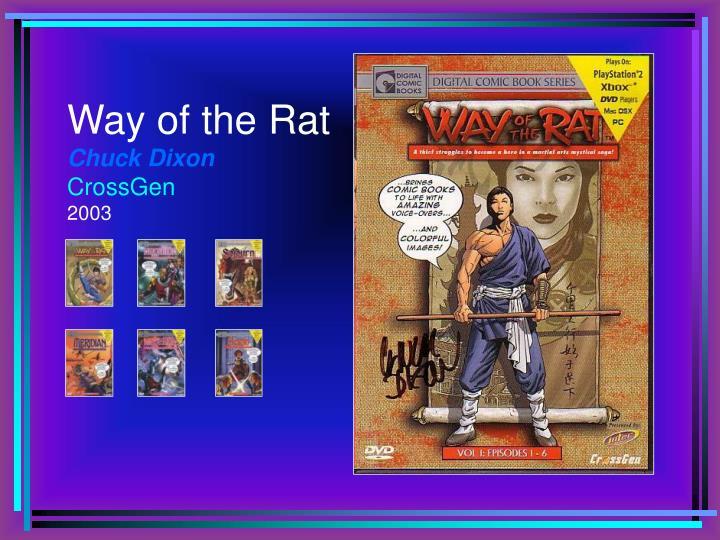 Way of the rat chuck dixon crossgen 2003