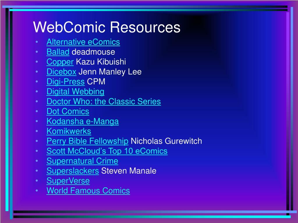 WebComic Resources