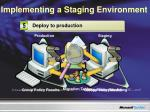 implementing a staging environment