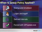 when is group policy applied
