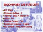 brookhaven lab fire dept