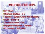 medford fire dept