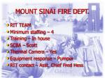 mount sinai fire dept
