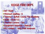 ridge fire dept