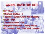 wading river fire dept