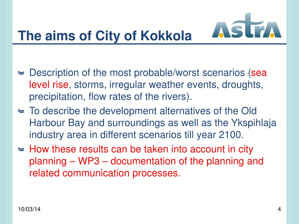 The aims of City of Kokkola