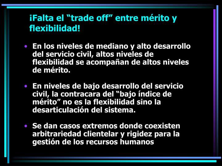 """¡Falta el """"trade off"""" entre mérito y flexibilidad!"""