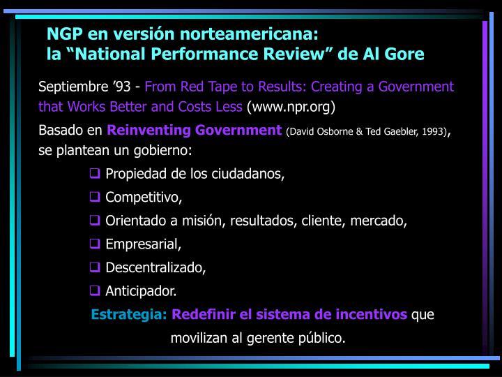 NGP en versión norteamericana: